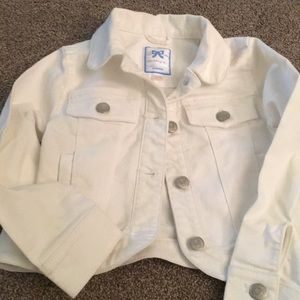 Gymboree White Jean Jacket
